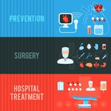 Surgery concept horizontal banners set Stock Image