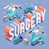 Surgery 01 Concept Isometric Royalty Free Stock Photo