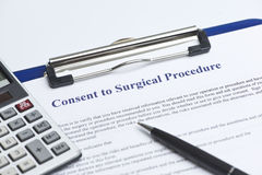 Surgery Cost Royalty Free Stock Photography