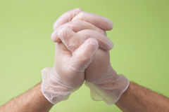 Surgery Doctor Hands In Prayer Royalty Free Stock Photography