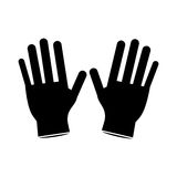 Surgery glove clean medical pictogram Stock Photography