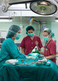 Surgery at the hospital stock photo