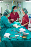 Surgery at the hospital stock photography
