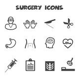 Surgery icons Royalty Free Stock Photos