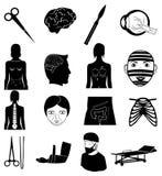Surgery icons set Royalty Free Stock Photos