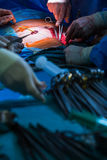 Surgery in a modern hospital Stock Image