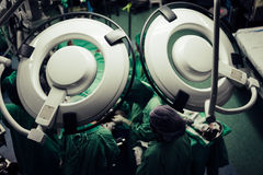 While surgery performed by emergency physicians and nurses. Stock Image