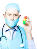 Surgery risk or dicing with death Royalty Free Stock Images