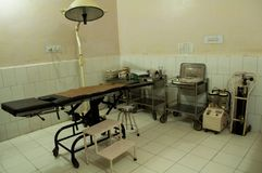 Surgery rooms in different clinics in the Bihar region of northern India.  Stock Photo