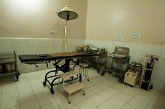 Surgery rooms in different clinics in the Bihar region of northern India.  Stock Images