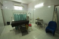 Surgery rooms in different clinics in the Bihar region of northern India.  Stock Image