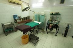 Surgery rooms in different clinics in the Bihar region of northern India.  Royalty Free Stock Images