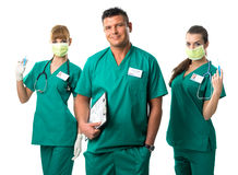 Surgery Team -Doctor and Nurses Stock Image