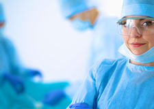 Surgery team in the operating room Royalty Free Stock Photos
