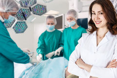 Surgery team in the operating room royalty free stock image