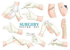 Surgery. Vector set. Stock Image