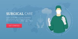 Surgical care banner Stock Photo