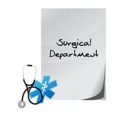 Surgical department medical message Royalty Free Stock Images
