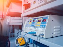 Free Surgical Equipment And Medical Devices In Operating Room. Stock Photo - 184023590