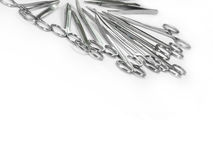 Surgical instruments arranged in a pattern 4. Surgical Scissors arranged in a pattern like in the tray of operation theatertable set Royalty Free Stock Photography