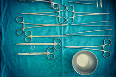 Surgical instruments collection Stock Image