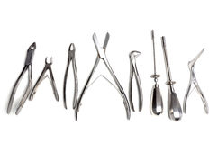 Surgical instruments isolated Stock Image
