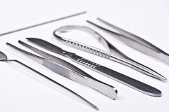 Surgical instruments kit Royalty Free Stock Photography