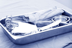 Surgical instruments ready to use Royalty Free Stock Images