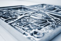 Surgical instruments and tools Royalty Free Stock Photo