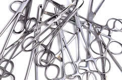 Surgical instruments. On white background Royalty Free Stock Photos