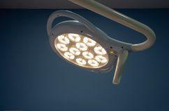 Surgical lamp in a veterinary clinic stock images