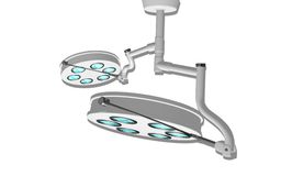 Surgical lamps. Digital illustration of  two surgical lamps in operation room Royalty Free Stock Image