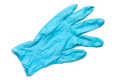 Surgical Latex Glove. On White Stock Photography