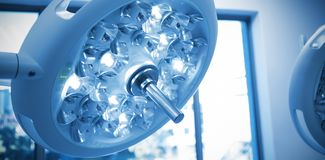 Surgical lights in operation room royalty free stock images