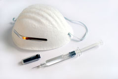 Surgical mask syringe Stock Photos