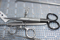 Surgical scissors and some tools Stock Photography