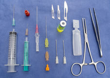Surgical table Royalty Free Stock Photo