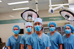 Surgical team Stock Image
