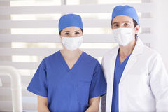 Surgical team ready to operate Royalty Free Stock Image