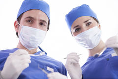 Surgical team ready to operate Stock Photo