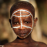 Suri boy with face painting Stock Images