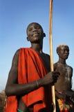 Suri nötkreaturherder i södra Omo, Etiopien Royaltyfria Bilder