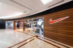 Suria KLCC购物中心的,吉隆坡耐克商店 图库摄影