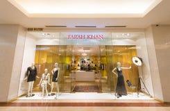 Suria KLCC购物中心的,吉隆坡Farah可汗商店 库存照片