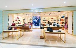 Suria KLCC购物中心的,吉隆坡Furla商店 库存图片