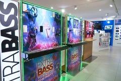 Suria KLCC. KUALA LUMPUR, MALAYSIA - MAY 09, 2016: Sony Store in Suria KLCC. Suria KLCC is a shopping mall is located in the Kuala Lumpur City Centre district Royalty Free Stock Photos