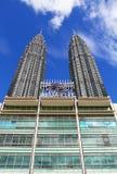 Suria KLCC Petronas tvillingbröder - 012 Arkivbild