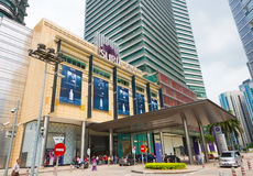 Suria KLCC shopping mall, Kuala Lumpur. KUALA LUMPUR - JUNE 15, 2016: A lateral portal of the Suria KLCC. The shopping mall is located in the Kuala Lumpur City Stock Photography