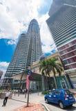 Suria KLCC shopping mall, Kuala Lumpur, Malaysia. KUALA LUMPUR - JUNE 15, 2016: A lateral portal of the Suria KLCC mall. The shopping mall is located in the Stock Images