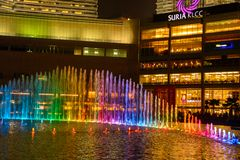The Suria KLCC shopping mall. The mall is located in the Kuala Lumpur City Centre district near the famous Petronas Towers stock photo